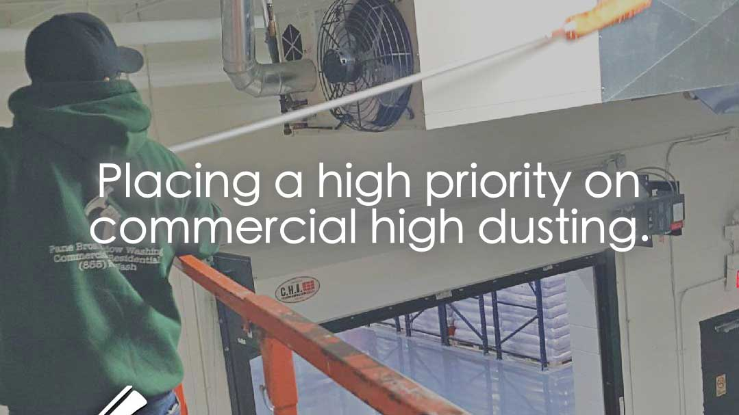 caption: placing a high priority on commercial high dusting