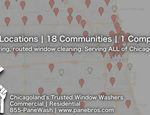 Pane Bros. specializes in performing commercial window washing services